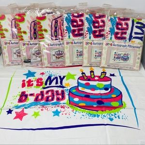 Autograph Pillow Cases 3C4G Princess and Birthday